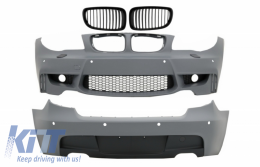 Body Kit suitable for BMW 1 Series E81 E87 Hatchback (2004-2011) M Sport Design with PDC and Fog Light Grilles - COFBBME87M1WOFGRBDOP