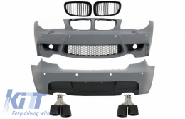 Body Kit suitable for BMW 1 Series E81 E87 Hatchback (2004-2011) M Sport Design with Exhaust Muffler Tips Carbon Fiber - COCBBME87M1WOFG024