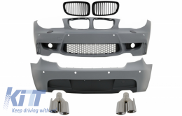 Body Kit suitable for BMW 1 Series E81 E87 Hatchback (2004-2011) M Sport Design with Exhaust Muffler Tips Chrome - COCBBME87M1WOFG023C