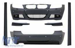 Body Kit suitable for BMW 3 Series E90 LCI Limousine (2008-2011) M-Technik Design with Front Bumper Splitters Spoiler - COCBBME90LCIMTFLS