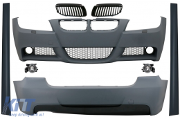 Body Kit suitable for BMW 3 Series E90 (2005-2008) M-Technik Design with Grilles Black