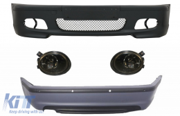 Body Kit suitable for BMW E46 Sedan (1998-2004) Bumper With PDC + Fog Lights Smoke Lens M-Technik Design - COFBBME46MT4DPDC03S