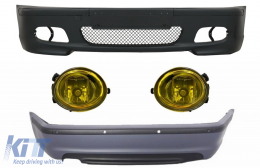 Body Kit suitable for BMW E46 Sedan (1998-2004) Bumper With PDC + Fog Lights Yellow M-Technik Design - COFBBME46MT4DPDC03Y