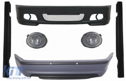 Body Kit suitable for BMW E46 Sedan (1998-2004) Bumper With PDC Side Skirts + Fog Lights Clear/Chrome M-Technik Design