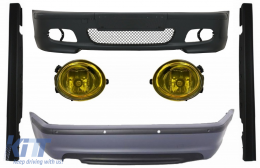 Body Kit suitable for BMW E46 Sedan (1998-2004) Bumper With PDC Side Skirts + Fog Lights Yellow M-Technik Design - COCBBME46MT4DSS03Y
