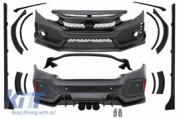 Body Kit suitable for Honda Civic MK10 FC/FK (2016-Up) Sedan Type R-Design - CBHOCIFK