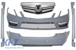 Body Kit suitable for MERCEDES Benz E-class W212 09-13 with Central Grille AMG Facelift Single Stripe Design - COCBMBW212AMGFS