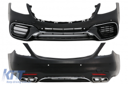 Body Kit suitable for MERCEDES Benz S-Class W222 Facelift (2013-Up) S63 A-Design - CBMBW222AMGS63F