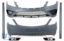 Body Kit suitable for MERCEDES Benz W222 S-Class (2013-up) S63 AMG Design with Exhaust Muffler Tips - COCBMBW222AMGS63B