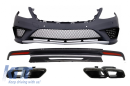 Body Kit suitable for MERCEDES Benz W222 S-Class (2013-up) S63 AMG Design with Black Exhaust Muffler Tips - COCBMBW222AMGS63TYBB