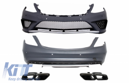 Body kit suitable for MERCEDES Benz W222 S-Class (2013-up) S65 AMG Design with Black Exhaust Muffler Tips - COCBMBW222AMGS65B