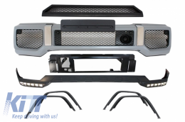 Body Kit suitable for Mercedes G-Class W463 (1989-2017) G65 Design LED DRL Extension - COFBMBW463AMGFBS