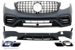 Body Kit suitable for Mercedes GLC SUV X253 (2015-07.2019) GLC63 Design - CBMBGLCX253AMG