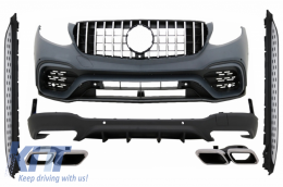 Body Kit suitable for Mercedes GLC SUV X253 (2015-07.2019) GLC63 Design with Running Boards - COCBMBGLCX253AMGRR