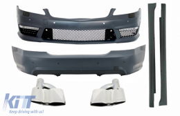 Body Kit suitable for Mercedes S-Class W221 (2005-2011) with Exhaust Muffler Tips and Side Skirts SWB - COCBMBW221S65TY