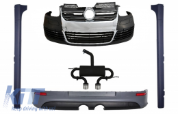 Body Kit suitable for VW Golf 5 V R32 (2003-2007) With Complete Exhaust System - COCBVWG5R32ESGTI