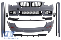 Body Kit with Central Grilles Piano Black BMW F11 5 Series Touring 2011-2013 M-Performance Design - COCBBMF11MP