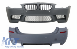 Body Kit with PDC Central Grille Carbon Film suitable for BMW F10 5 Series 2011+ LCI&NonLCI M5 Design - COCBFBBMF10M5CF