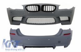 Body Kit with PDC Central Grille Piano Black for BMW F10 5 Series 2011+ LCI&NonLCI M5 Design - COCBFBBMF10M5DPB