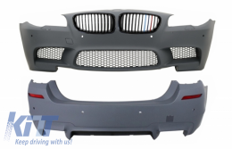 Body Kit with PDC Central Grille Piano Black M-Power Design for BMW F10 5 Series 2011+ LCI&NonLCI M5 Design - COCBFBBMF10M53C