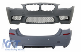 Body Kit with PDC SRA  Air Diffuser suitable for BMW F10 5 Series 2011+ LCI & NonLCI M5 Design - COCBFBBMF10M5
