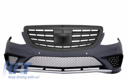 Bumper for Mercedes Benz W222 S-Class 13+ PDC Front Grille Black S63 AMG Design - COFBMBW222AMGS63BB