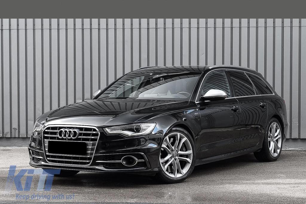 Bumper Lower Grille Acc Covers Side Grilles Suitable For Audi A6 C7 4g S Line Facelift 2015 2018 Chrome Edition Carpartstuning Com