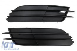 Bumper Lower Grille Covers Side Grilles suitable for AUDI A6 C7 4G (2012-2015) Without ACC - SGAUA64GWO