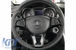 Car Steering Wheel Button Trim frame Suitable for MERCEDES C Class W205 S205 (2014-2018) - CSTRWHLW205