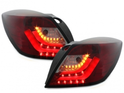 carDNA LED Taillights Opel Astra H GTC LIGHTBAR Red/Smoke - RO27SLRS