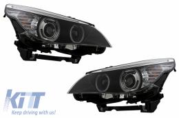 CCFL Angel Eyes Headlights suitable for BMW 5 Series E60 E61 (2003-2004) Dual Projector LCI Look for Xenon D2S - HLBME60D2S/LPBMC7