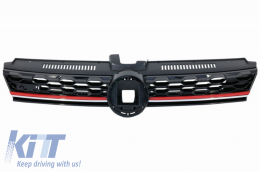 Central Badgeless Grille suitable for VW Golf 7.5 VII Facelift (2017-up) GTI Design - FGVWG7FGTI