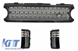 Central Grille and Side Vents Assembly Land Rover Range Rover Vogue III (L322) (2006-2009) Black Grey Autobiography Supercharged Edition