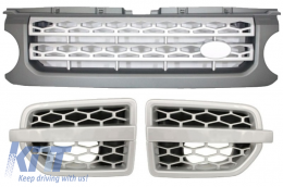 Central Grille and Side Vents Assembly Land Rover Range Rover Discovery IV (2010-up) Autobiography Grey Silver Design