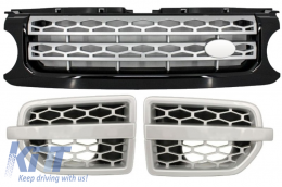 Central Grille and Side Vents Assembly Land Rover Range Rover Discovery (2010-up) Hawke Autobiography Black Silver