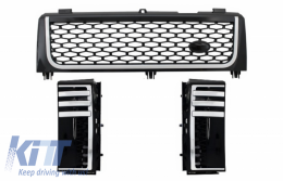 Central Grille and Side Vents Assembly Land Rover Range Rover Vogue III (L322) (2002-2005) Piano Black & Silver Autobiography Supercharged Edition
