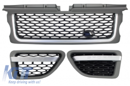 Central Grille and Side Vents Assembly suitable for Land ROVER Range ROVER Sport (2005-2008) L320 Autobiography Look Platinum Black Edition - RRFGA01GB