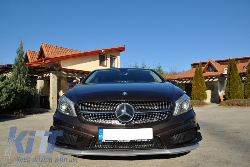 central grille mercedes a class w176 12 15 a45 diamond amg. Black Bedroom Furniture Sets. Home Design Ideas