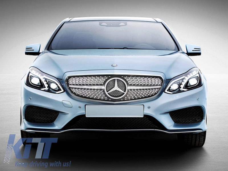 Central grille mercedes benz w212 e class facelift 2013 for Mercedes benz grills