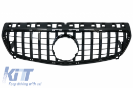 Central Grille suitable for MERCEDES Benz A-Class W176 (2012-08.2015) A45 GT-R Panamericana Design All Black - FGMBW176GTRBCN