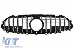 Central Grille Suitable for MERCEDES CLS-Class C257 (2018-up) GTR Design Black - Chrome - FGMBC257GTR