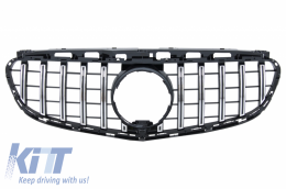 Central Grille suitable for Mercedes E-Class W212 S212 Facelift (2013-2016) GT-R Panamericana Design - FGMBW212GTRCN