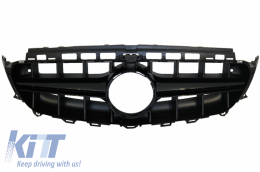 Central Grille suitable for Mercedes E-Class W213 S213 C238 A238 (2016-up) Black AMG E63 Design - FGMBW213AGTRB