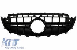 Central Grille suitable for Mercedes E-Class W213 S213 C238 A238 (2016-up) Black E63 Design Without 360 Camera