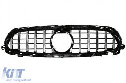 Central Grille suitable for Mercedes E-Class Facelift W213 S213 C238 A238 Sport Line (2020-Up) GT-R Panamericana Design Chrome - FGMBW213FGTR