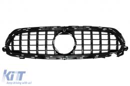 Central Grille suitable for Mercedes E-Class Facelift W213 S213 C238 A238 Sport Line (2020-Up) GT-R Panamericana Design Black - FGMBW213FGTRB