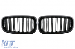 Central Grilles Kidney suitable for BMW X5 X6 (F15) (F16) (2014-up) X5M X6M Double Stripe Design M-Package Sport