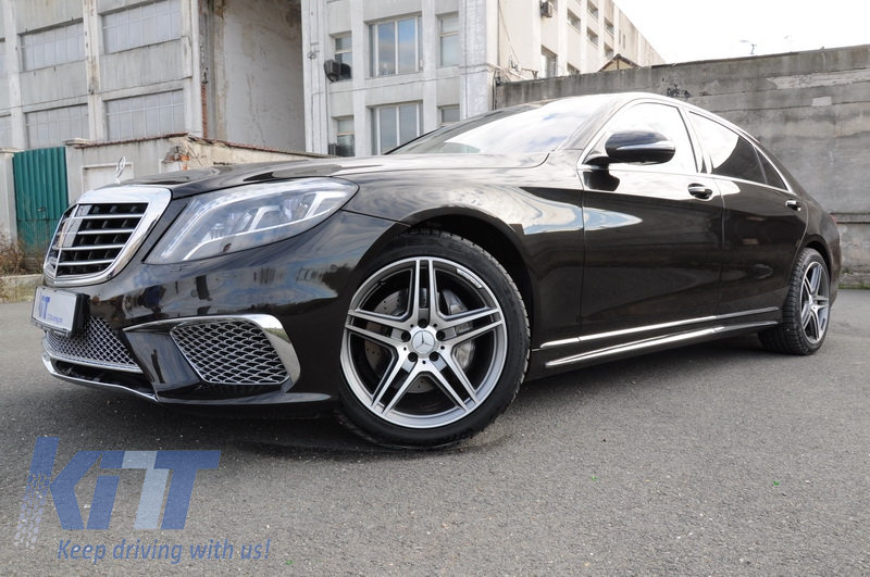 Chrome parts trim strips side skirts mercedes benz w222 s for Mercedes benz chrome accessories