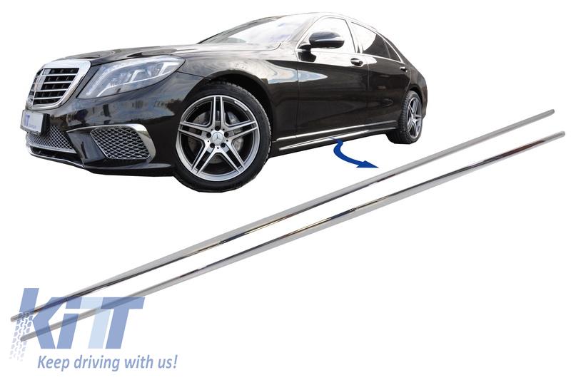 Chrome Rear Driver Side Bumper Trim for Mercedes-Benz E-Class