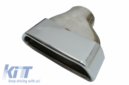 Chromed Exhaust Muffler Tips suitable for BMW E36 E46 E90 E91 E39 E60 E61 F10 F11 E64 F12 F13 F06 X5 E53 M5 design - TY-BM530S